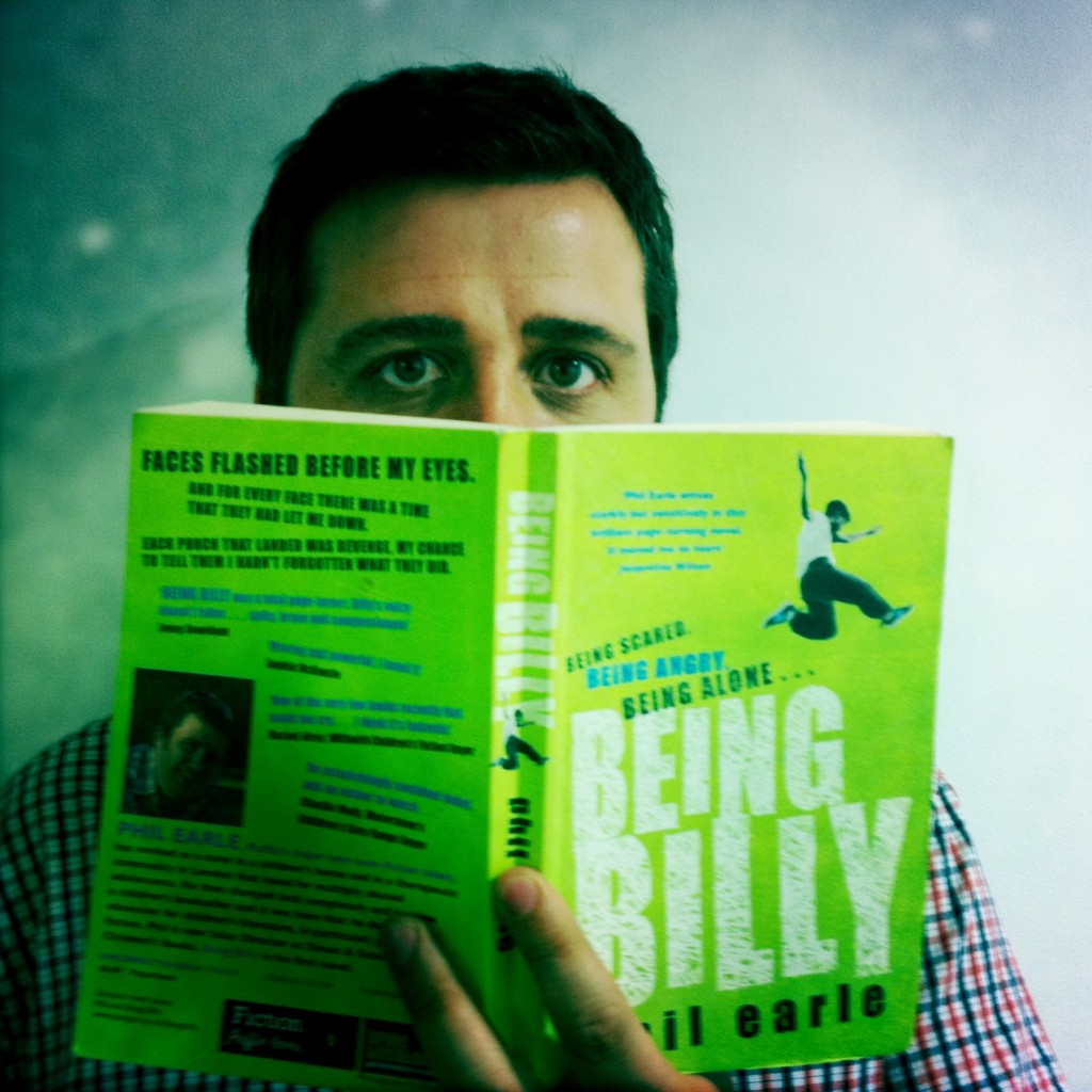 Phil reading his debut, Being Billy
